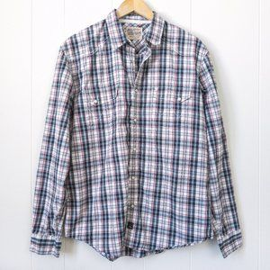 Wrangler Western Plaid Shirt L